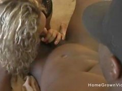 Big tit BBW Milf stuffed by two big black cocks at once