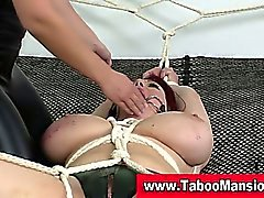 Lesbo domina twists nipples and gags hoe in fetish action in hd