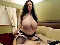 Extremely Huge Natural Tits Girl fucking