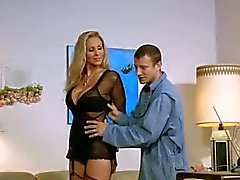 Young man with a big cock seduced by hot milf