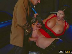 Busty MILF Shay Fox gets nailed in the dark of the night