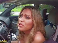 Roadside - Big titty Latina fucks her mechanic