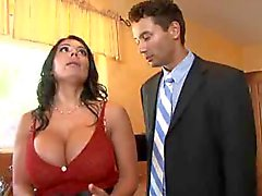 Hubby watches his hot wife go black